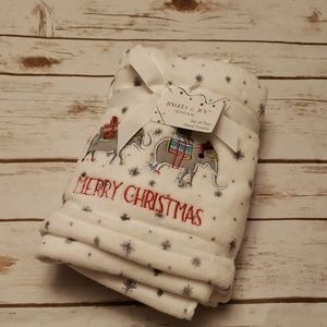 Set of Elephant Cheistmas Handtowels